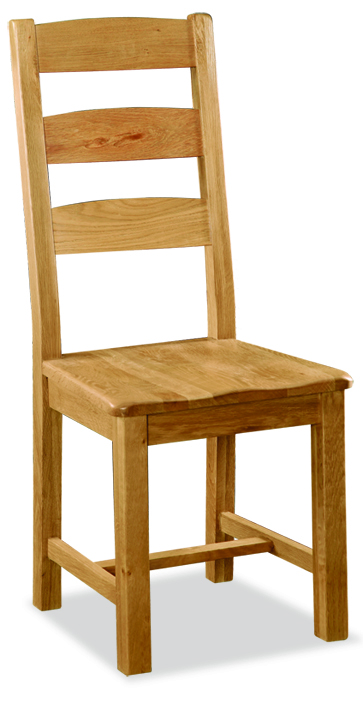 Ladder Oak Chair with Wooded seat