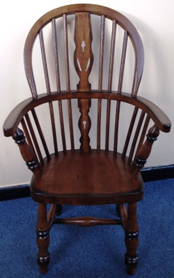 Child Oak Stick Back Chair