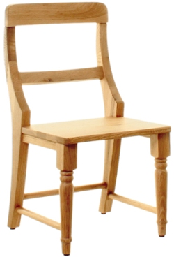 Amel Oak Children Chair