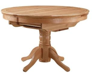 Turnberry Round Extend Pedestal Oak Dining Table